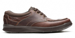 Clarks Mens Cotrell Edge Brown Oily Shoes